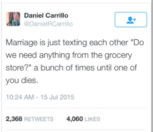 marriage tweet